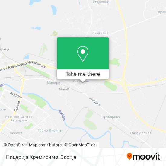 Пицерија Кремисимо map