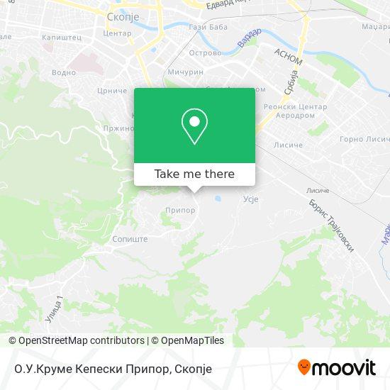 О.У.Круме Кепески Припор map