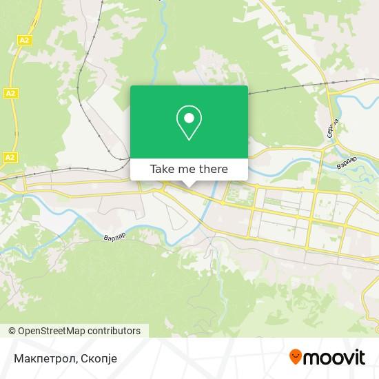 Макпетрол map