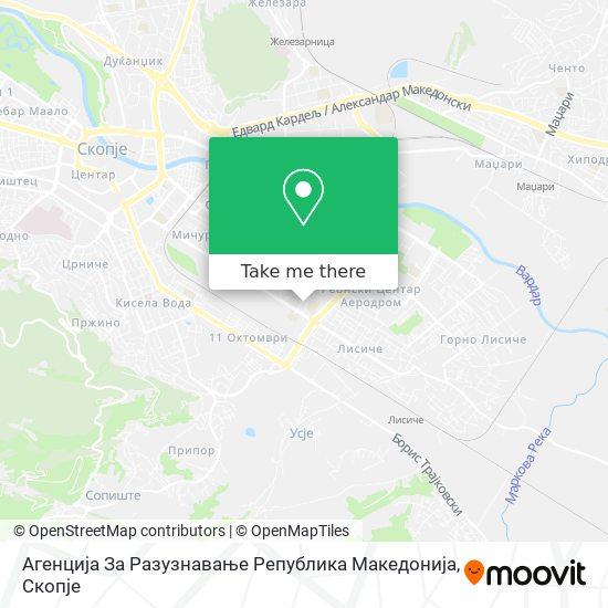 Агенција За Разузнавање Република Македонија map