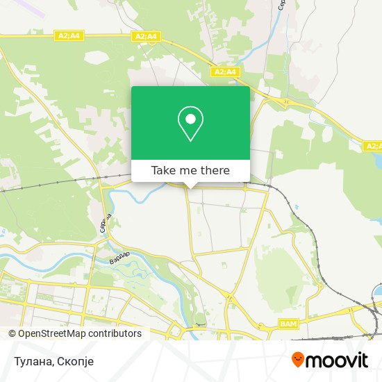 Тулана map
