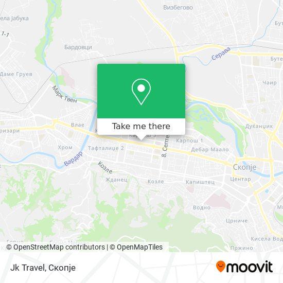 Jk Travel map