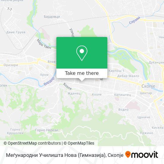Меѓународни Училишта Нова (Гимназија) map