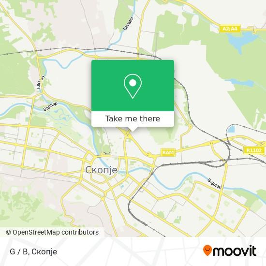 G / B map