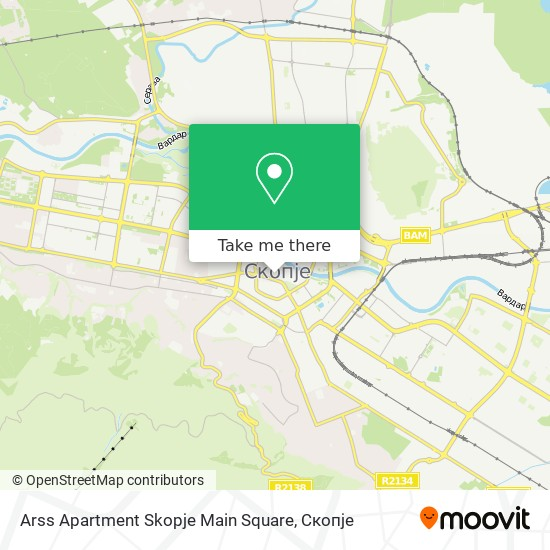 Arss Apartment Skopje Main Square map