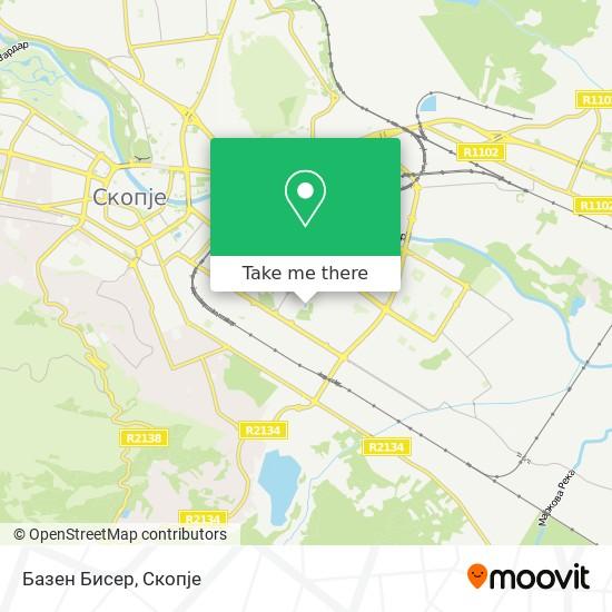 Базен Бисер map
