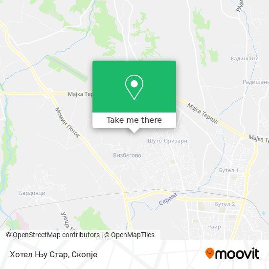 Хотел Њу Стар map