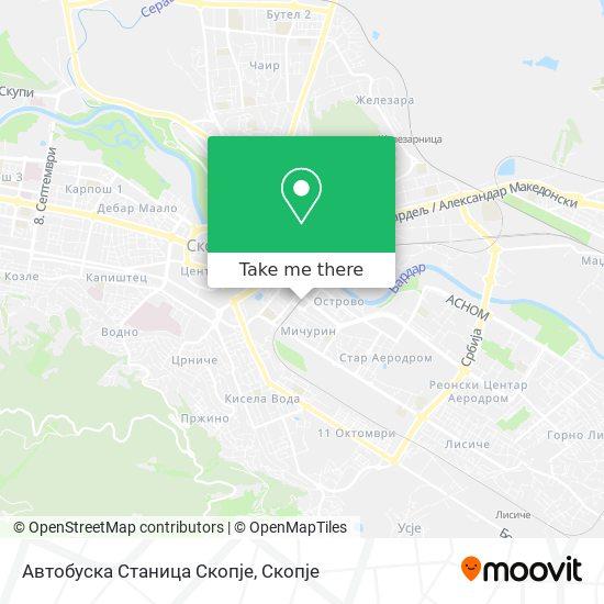 Автобуска Станица Скопје map