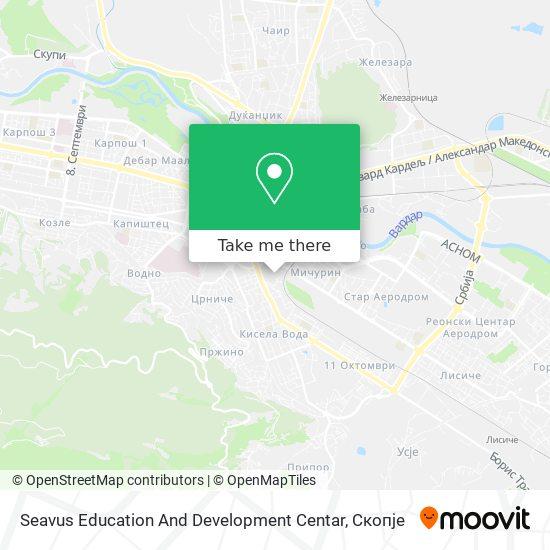 Seavus Education And Development Centar map