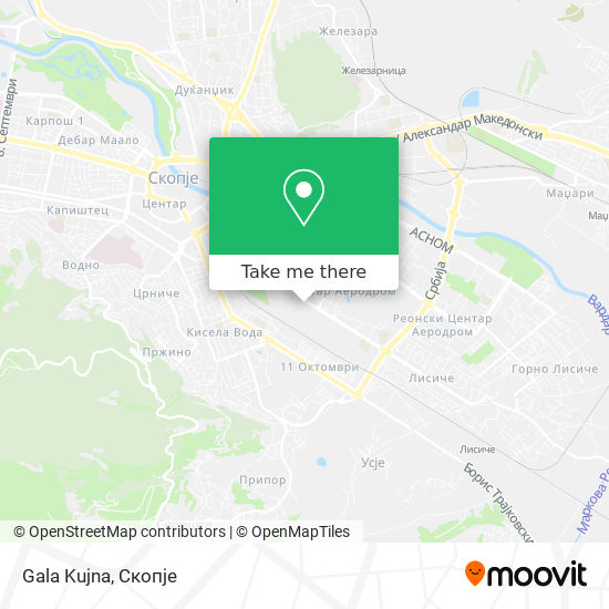 Gala Kujna map