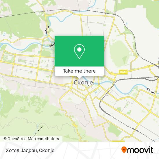 Хотел Јадран map