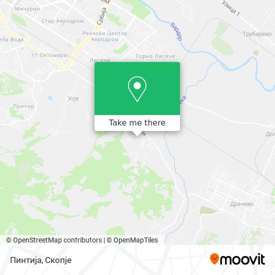 Пинтија map