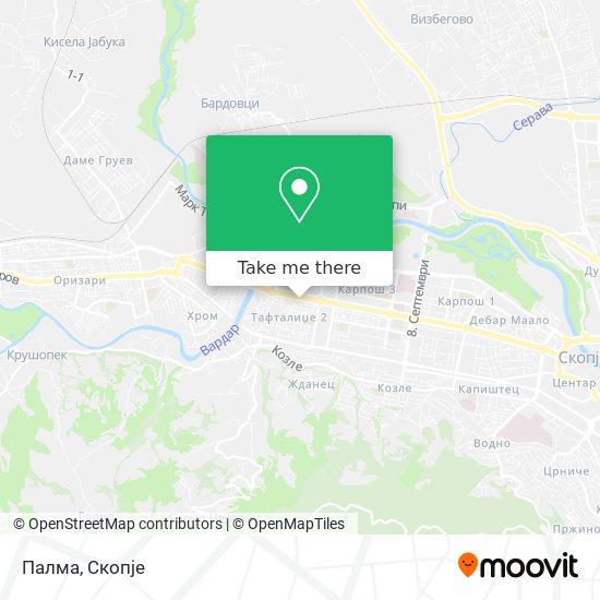 Палма map