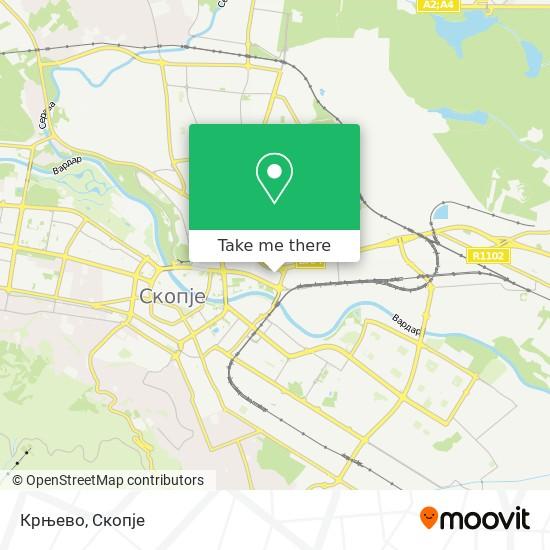 Крњево map