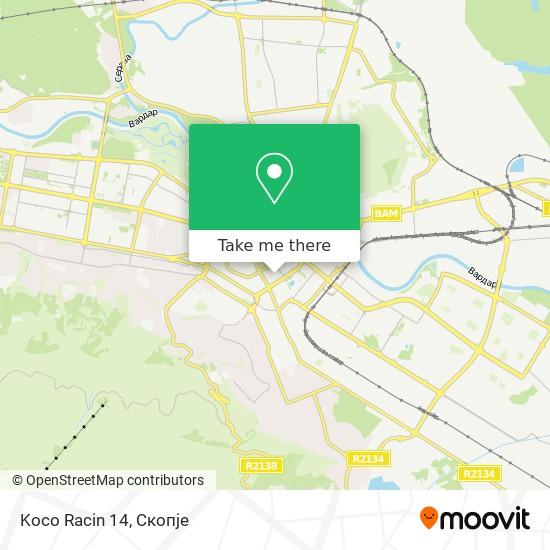 Koco Racin 14 map