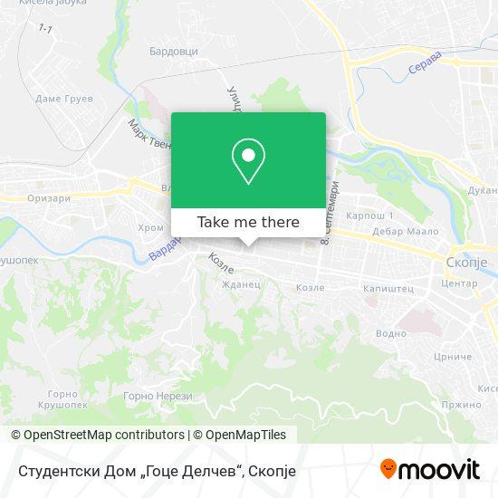 Студентски Дом Гоце Делчев map