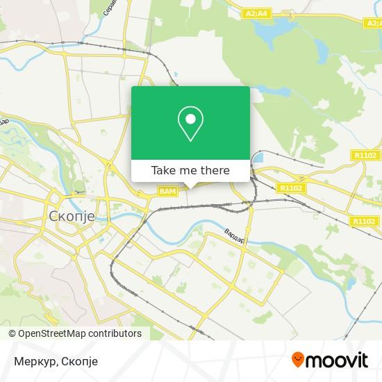 Меркур map