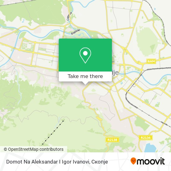 Domot Na Aleksandar I Igor Ivanovi map