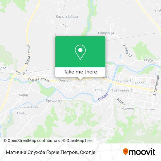 Матична Служба map