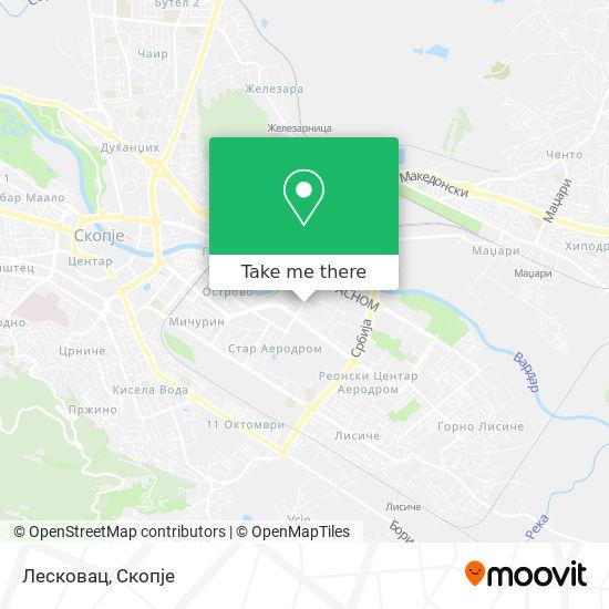 Лесковац map