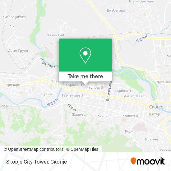 Skopje City Tower map