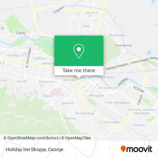 Holiday Inn Skopje map