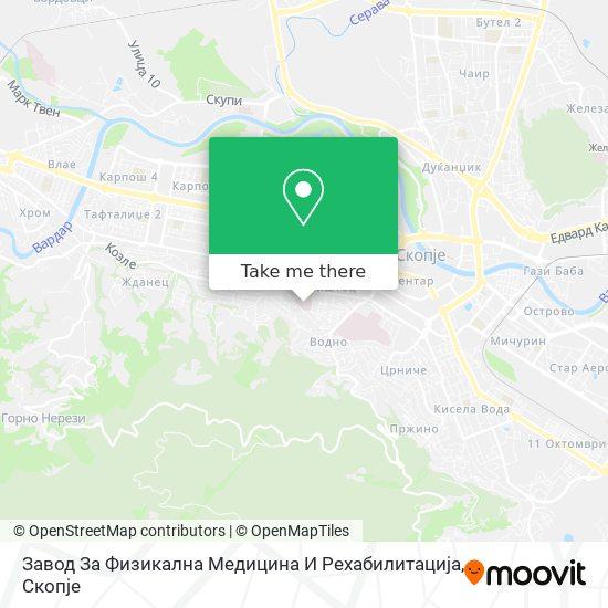 Завод За Физикална Медицина И Рехабилитација map
