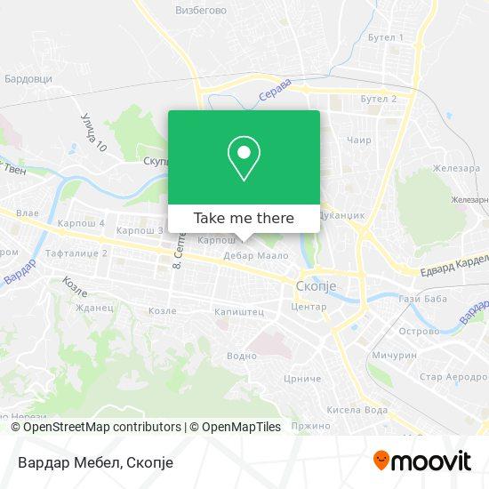 Вардар Мебел map