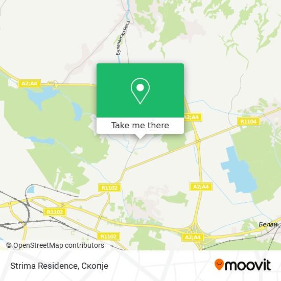 Strima Residence map