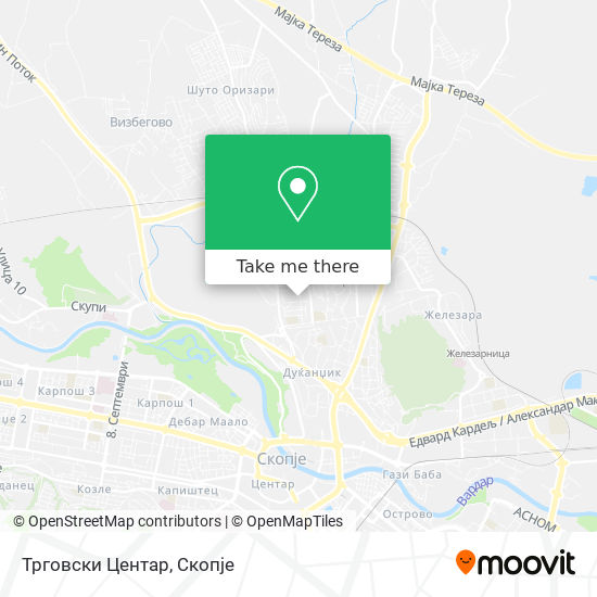 Трговски Центар map