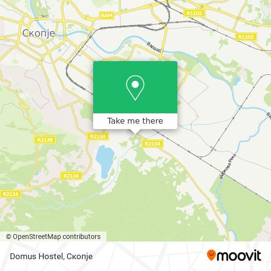 Domus Hostel map