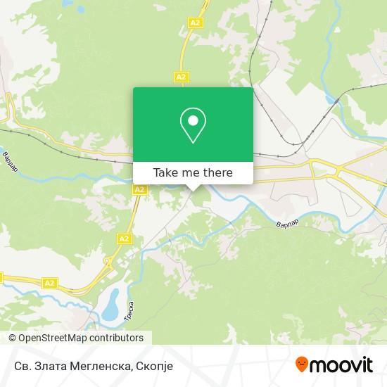 Св. Злата Мегленска map