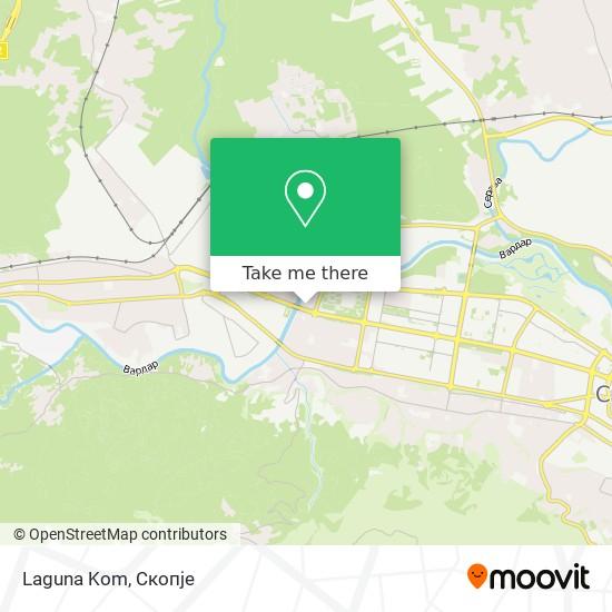 Laguna Kom map