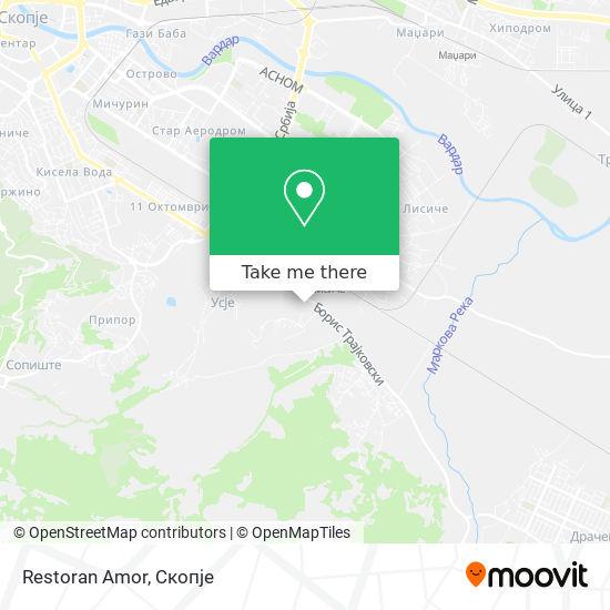 Restoran Amor map