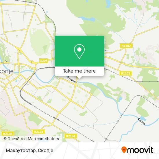 Макаутостар map
