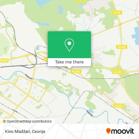 Kino Madžari map