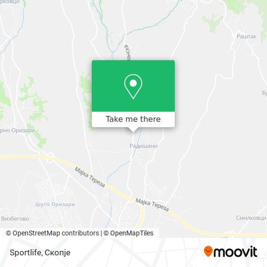 Sportlife map