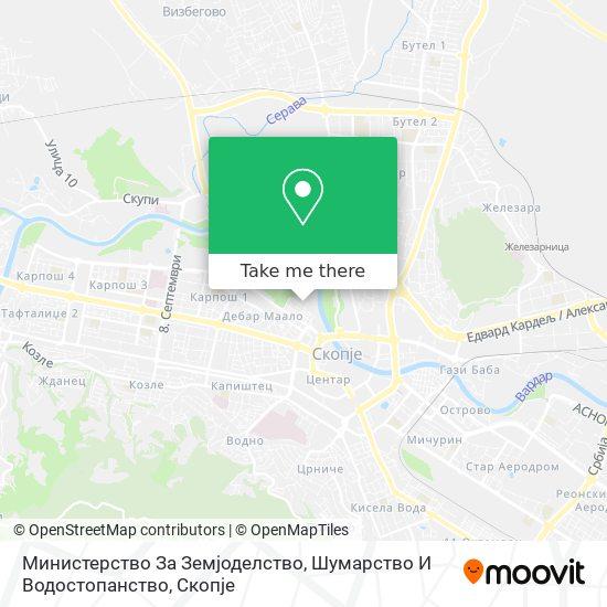 Министерство За Земјоделство, Шумарство И Водостопанство map