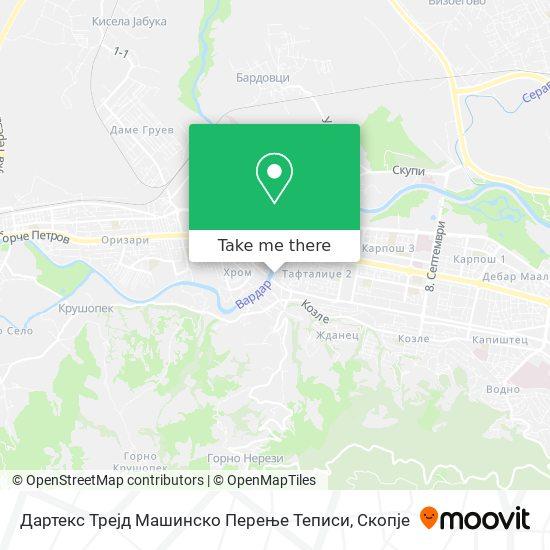 Дартекс Трејд Машинско Перење Теписи map
