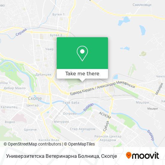 Универзитетска Ветеринарна Болница map
