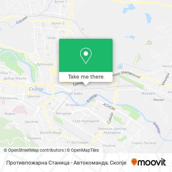 Противпожарна Станица - Автокоманда map