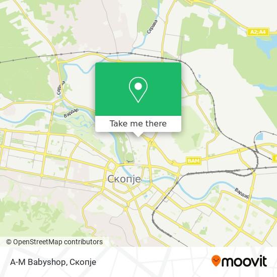 A-M Babyshop map