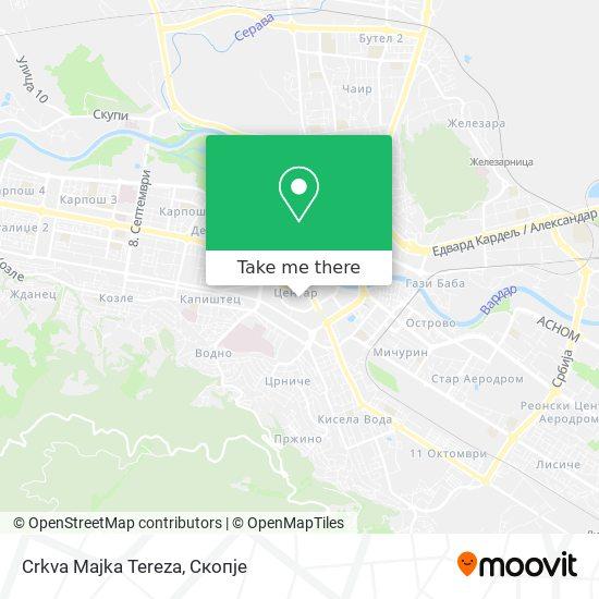 Crkva Majka Tereza map