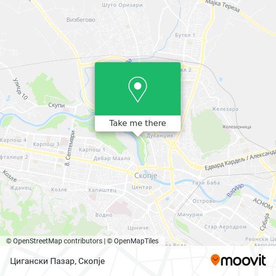 Цигански Пазар map