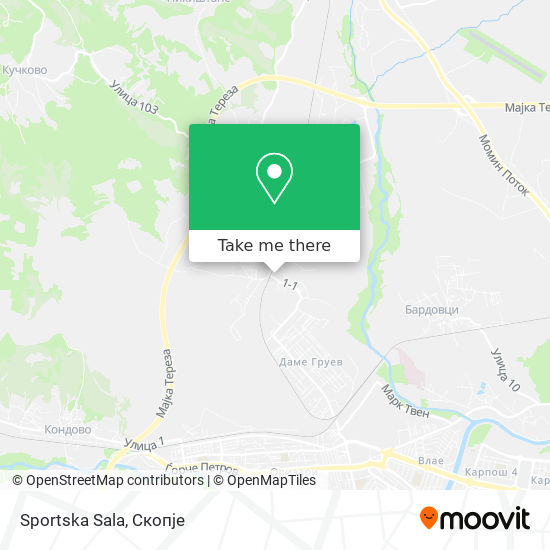 Sportska Sala map