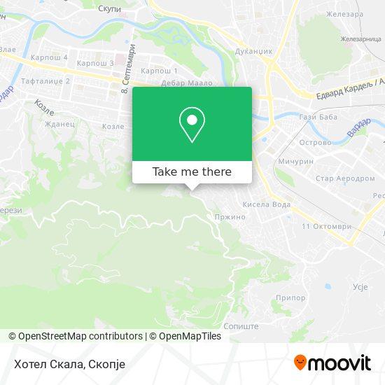 Хотел Скала map