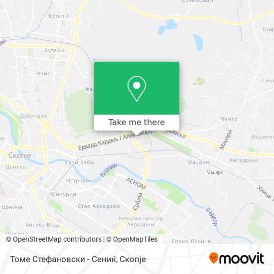 Томе Стефановски - Сениќ map