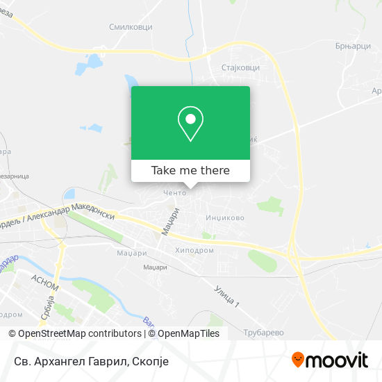 Св. Архангел Гаврил map