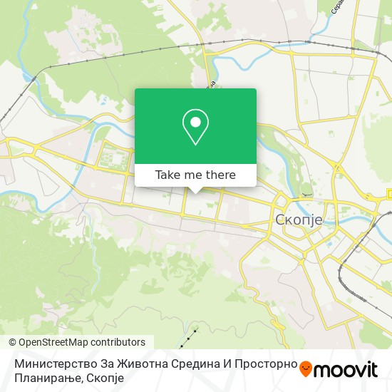 Министерство За Животна Средина И Просторно Планирање map