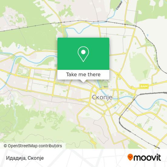 Идадија map